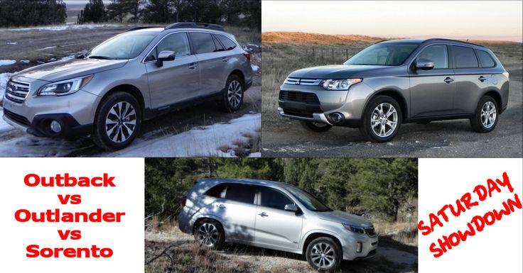 2015 Subaru Outback vs Mitsubishi Outlander vs Kia Sorento - Saturday Showdown - http://www.carnewscafe.com/2015/01/2015-subaru-outback-vs-mitsubishi-outlander-vs-kia-sorento-saturday-showdown/