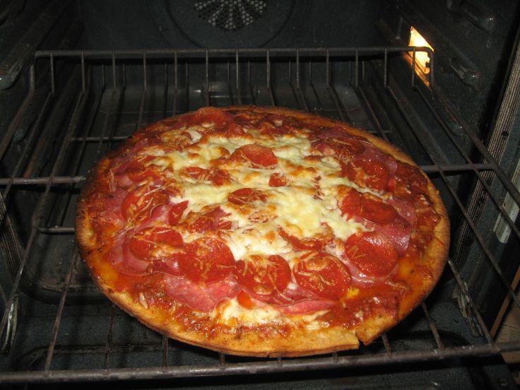 Salumi pizza (prosciutto, Genoa salami, capicolo, and pepperoni with ...