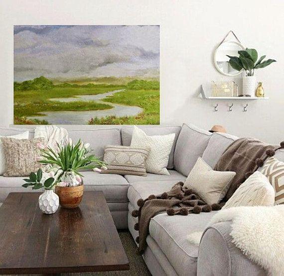 "Fine Art Custom Original Oil Painting, ""The Winding Creek"
