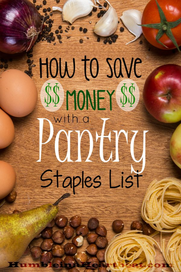 By using a pantry staples list, you can save an estimated $125 on your grocery budget! Learn how to start your own pantry staples list and start saving your money now. Pinned over 4,800 times!