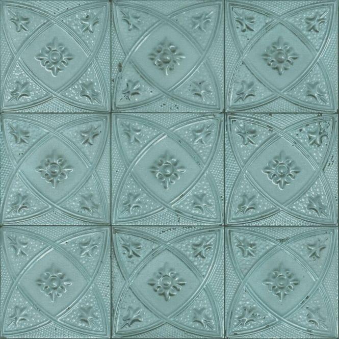 Rasch Rasch Ceramic Tile Pattern Wallpaper Floral Circle Motif Realistic Faux Effect 932515 Tile Patterns Floral Wallpaper Pattern Wallpaper