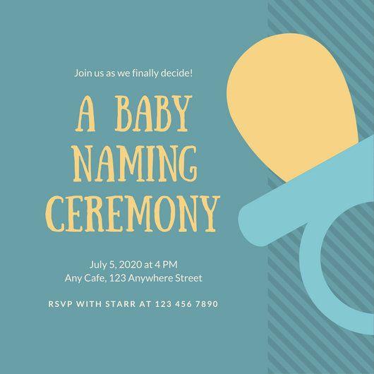 Les 25 Meilleures Idées De La Catégorie Naming Ceremony Invitation