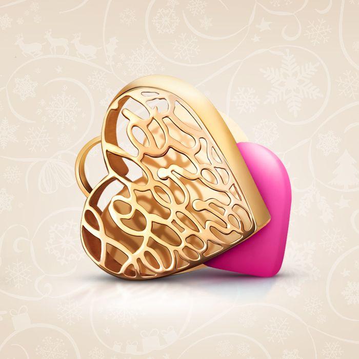 Love is Everywhere, pozłacana zawieszka puzderko z sercem w kolorze różowym. Serce wykonane z agatu. Możliwość wykonania graweru do 15 znaków.  Cena: 219 PLN  http://www.yes.pl/50301-puzderko-love-is-everywhere-AB-S-000-ZLO-AACL242-CZER