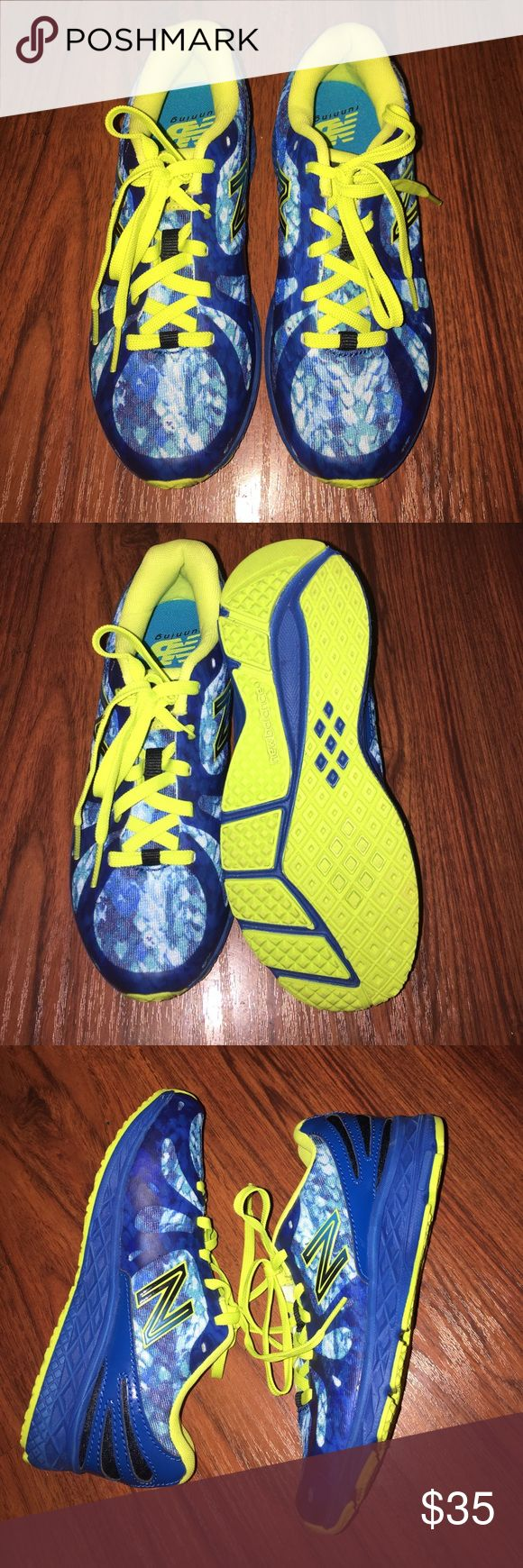 New Balance 890 Brand new sneakers in a preschool size 2. New balance 890 with a snake print in blue and yellow. No box. New Balance Shoes Sneakers