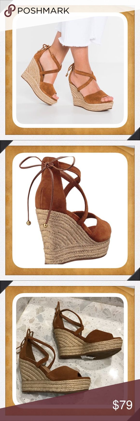 Ugg Reagan Chestnut Suede Wedge Sandals The Ugg Reagan