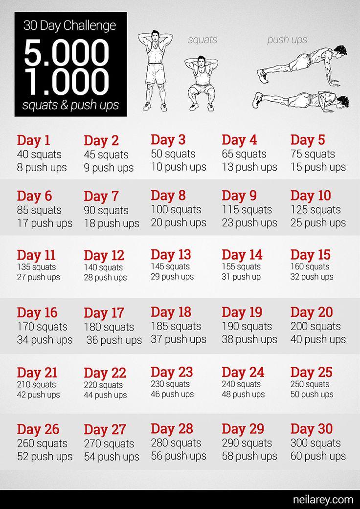 5000 squats & 1000 push ups 30-day challenge
