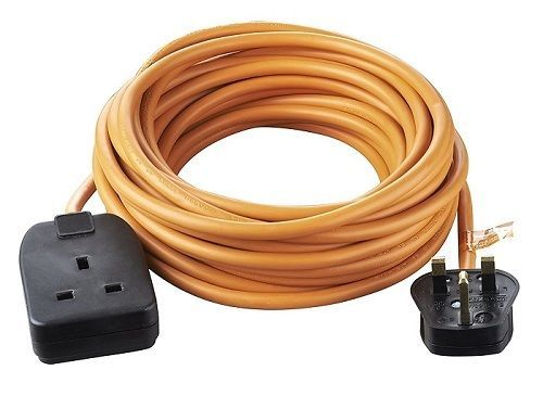 Outdoor Power Socket Extension Lead 10 M 1 Gang 10 A Plug Way Weatherproof Cable