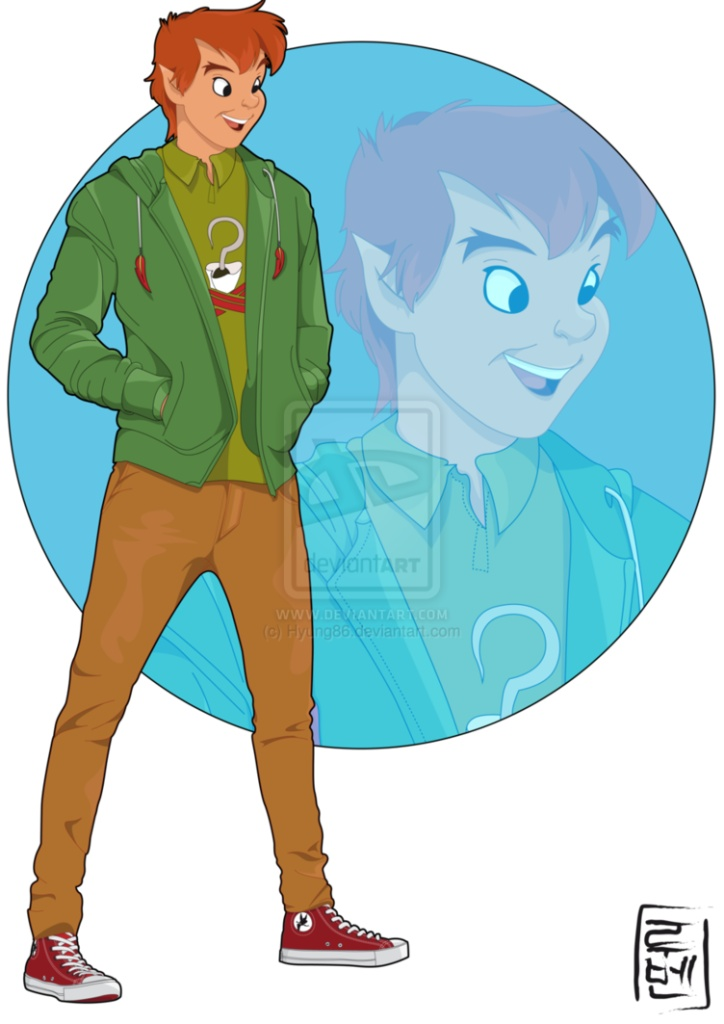 Disney University Student - Peter Pan. He was the first student at the University. He's funny and friendly with Tinkerbell. He also loves Converse.