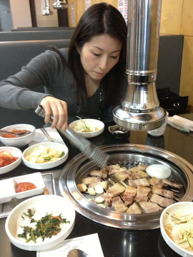 Korean BBQ for dinner with my wife