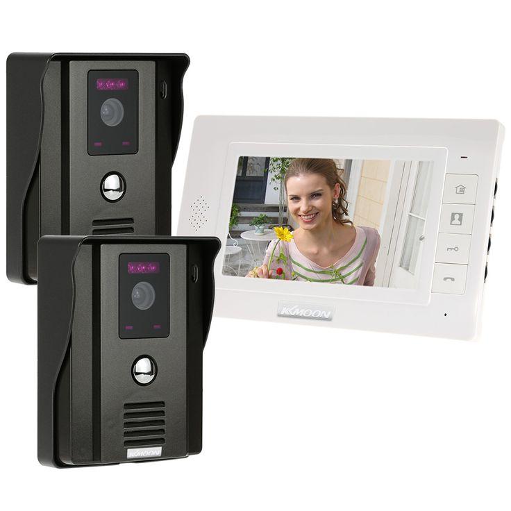 """Kkmoon 7 """"telefone video da porta interfone visuais campainha remoto desbloquear impermeável visão noturna de segurança cctv câmera de vigilância em casa"""
