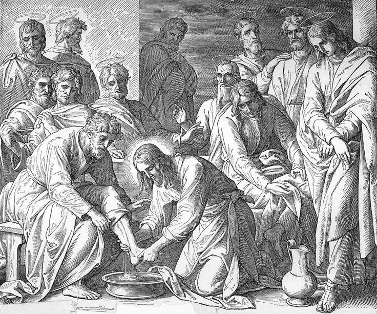 Bilder der Bibel - Die Fußwaschung - Julius Schnorr von Carolsfeld