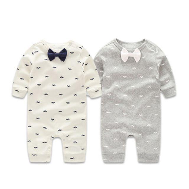 Baby Rompertjes Herfst Baby Jongens Kleding Sets Gentleman Lente Pasgeboren Kleren Lange Mouw Baby Jongen Kleding Baby Jumpsuits