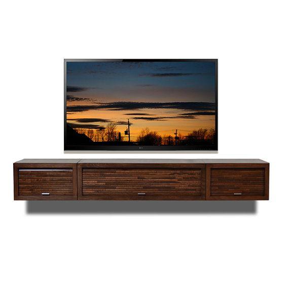wall mount entertainment center eco geo mocha 3pc. Black Bedroom Furniture Sets. Home Design Ideas