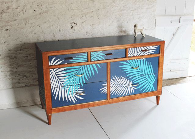 tropical-furniture-cobalt-blue-sideboard-lucy-turner-modern-marquetry