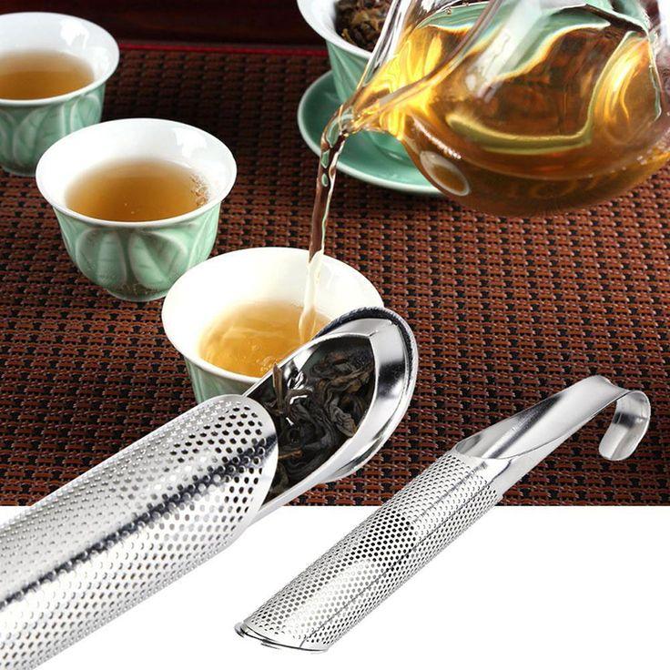 New Portable Hot Sale Tea Infuser Tea Strainer Stick Stainless Steel Pipe Design Mesh Tea Filter Coffee Teapot Tools #232845
