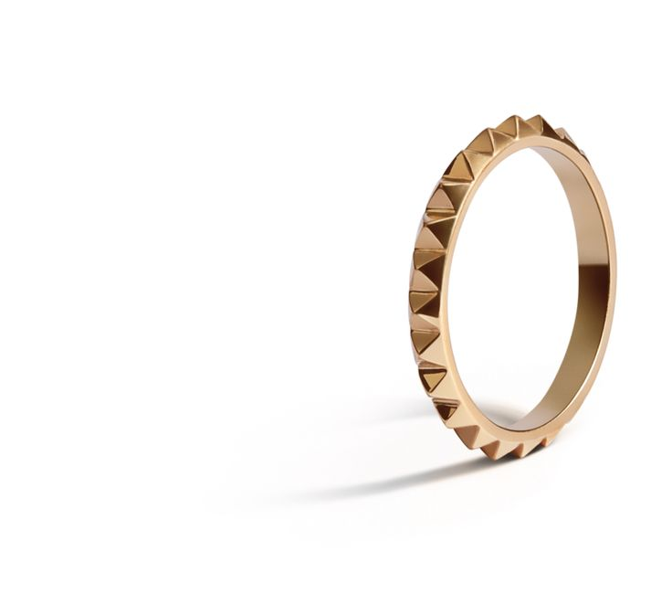 Punk Ring in 18K Yellow Gold.