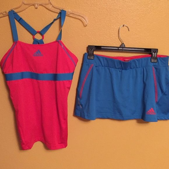 Adidas Barricade Tennis outfit Adidas Barricade.  Top is size Medium.  Skirt is size Medium with built in ball panties. Adidas Other
