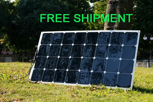 Solarparts 1PCS 100W flexible PV solar panel 12V solar cell/module/system RV/car/boat battery charger LED Sunpower light kit