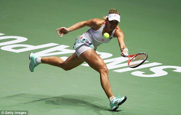 Kerber   won her first two Grand Slam titles at the Australian and US Open this year