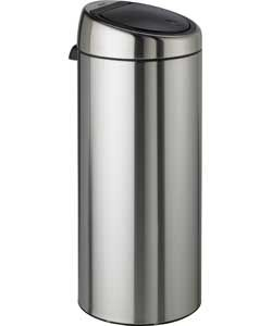 Brabantia 30 Litre Matt Steel Touch Top Kitchen Bin.