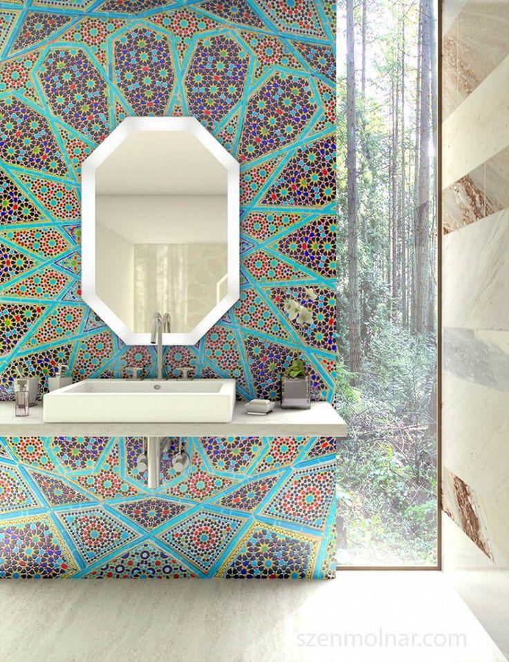 bathroom with mosaic