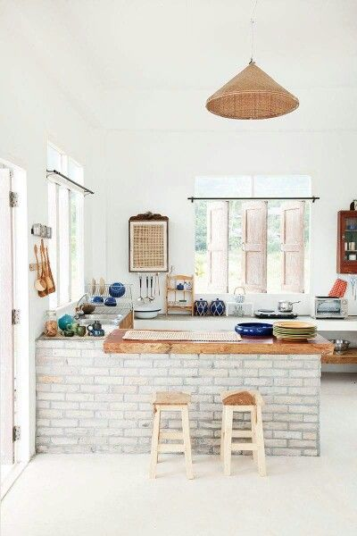 Bright summer kitchen