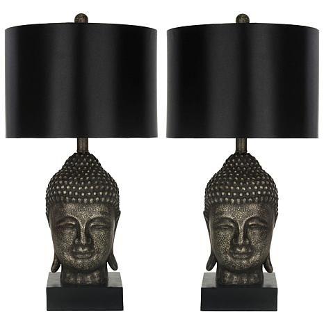 Safavieh Set of 2 Golden Buddha Table Lamps