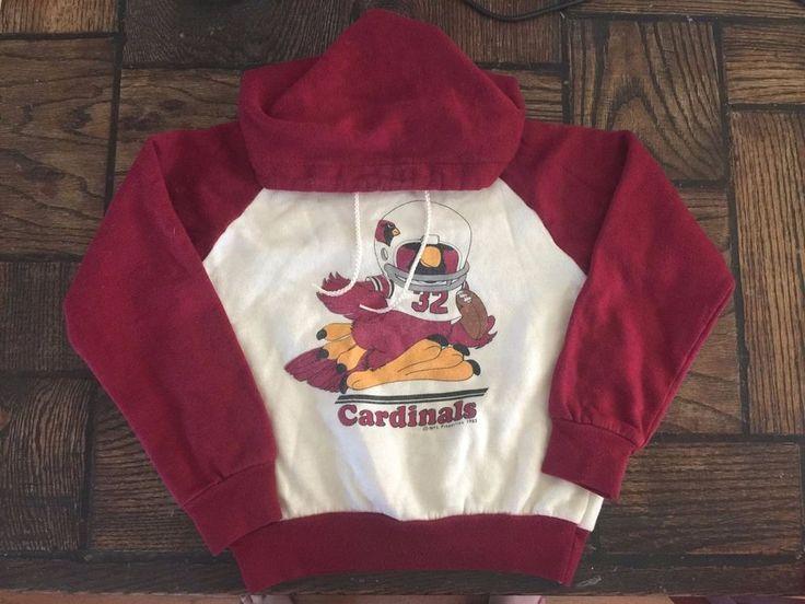Vintage Children's St Louis Cardinals Football Graphic 1983 Pullover Hoodie-5 #StLouisCardinals