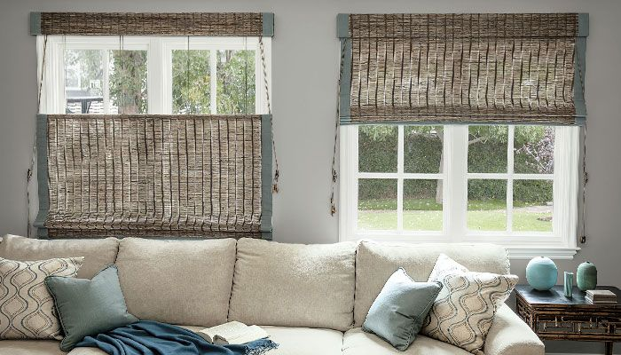 Best 25 woven shades ideas on pinterest woven blinds for Smith and noble natural woven shades