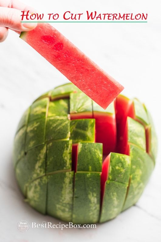 How to Cut Watermelon into Stick for Easy Eating Watermelon Salads   @bestrecipebox