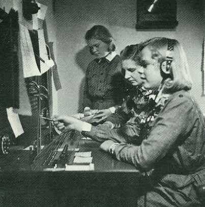 Small Lottas operating a telephone switchboard