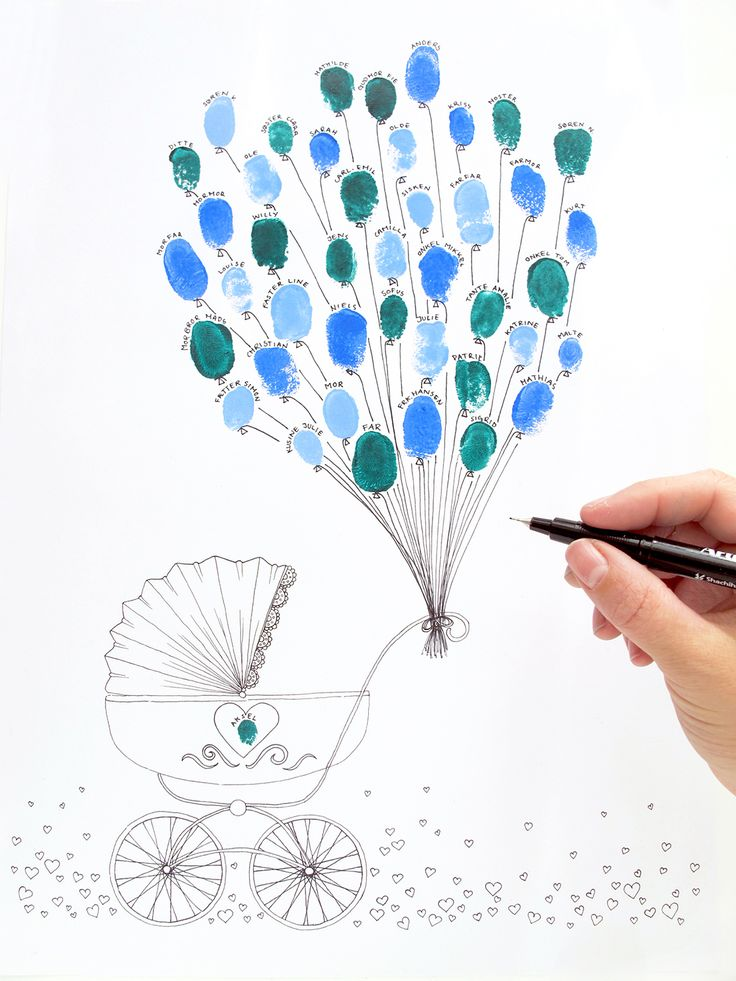 Make a beautiful memory of baptism and let all the guests put their fingerprints on this free poster. You can find the DIY and the free poster on www.frkhansen.dk