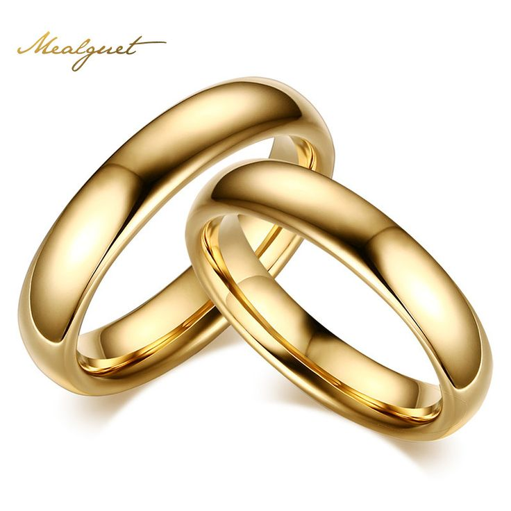 The following is now available at NuRiSha Fashion - Gold-Color Vintage Lover's Jewelry Tungsten Carbide Wedding Rings For Couples
