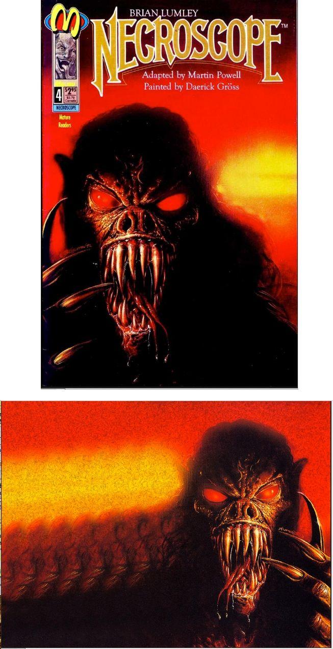 BOB EGGLETON - Necroscope #4 - April 1993 Malibu Comics - cover by comicsvine.gamespot - print by nevsepic.com.ua