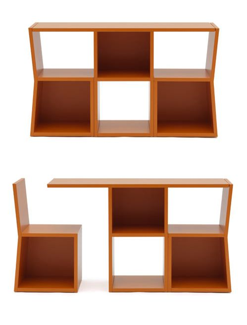 Shelf or table and chairs