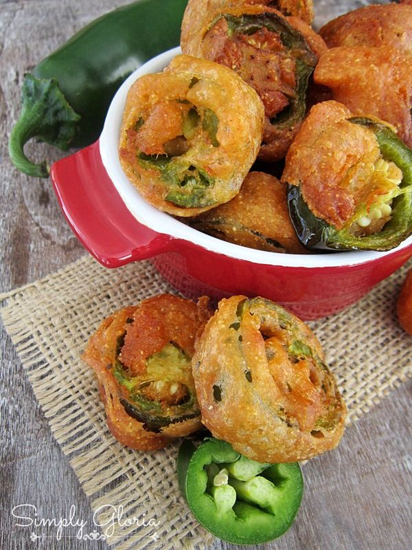 Jalapeno Bottle Caps by SimplyGloria.com #appetizers #jalapenos