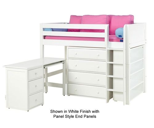 ★ Buy Maxtrix BLING3L Mid Loft Bed with storage & Desk in Twin sizes ★ BLING and KACHING Model loft beds from Maxtrix Kids ★ Wide Selection of Maxtrix childrens loft beds and teen beds at Kids Furniture Warehouse.