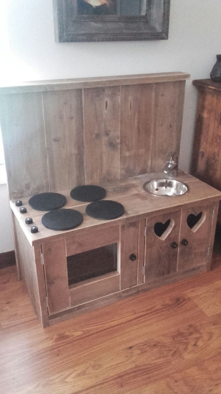 steiger hout kinder keukentje