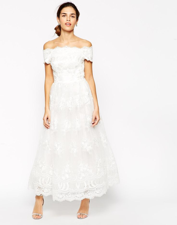 Chi chi london premium embroidered off shoulder prom dress for Off the shoulder wedding dress topper