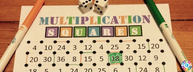 "Want a fun, no-prep multiplication facts game to use in your math centers tomorrow? Read about how we've ""mathified"" the popular squares game."
