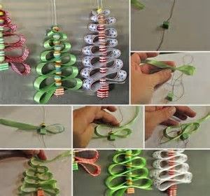 Image result for christmas tree decorations diy Ribbon