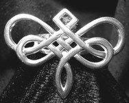 SS-1396 Goddess Dragonfly Celtic ring silver