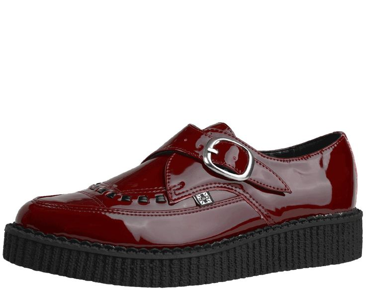 Burgundy Pointed Toe Creepers | T.U.K. Shoes