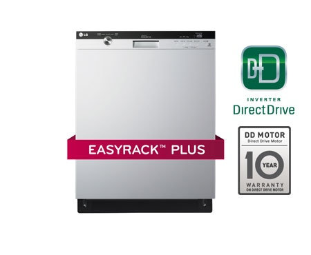 LG Dishwashers | LG LDS5540WW Semi-Integrated Dishwasher with Flexible EasyRack™ Plus System | LG Canada