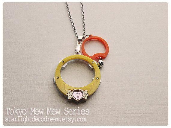 Tokyo Mew Mew Inspired Puring Rings Pudding Acrylic Necklace for Mahou Kei, Magical Girl Fashion