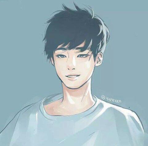 Fanart of Wonwoo! Ok Wonwoo is seriously handsome and hot but this fanart is hotter than him! Love it! #wonwoo #seventeen #kpop #fanart
