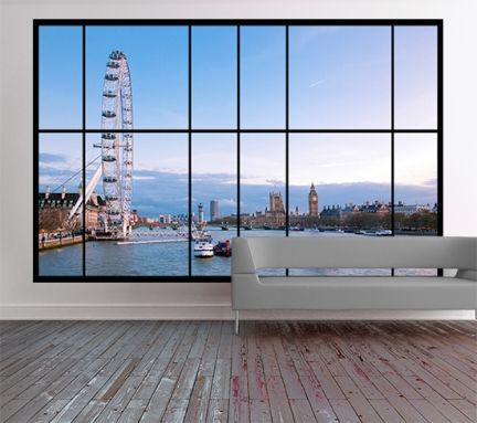 64 best images about window illusion murals on pinterest for Bay view wall mural