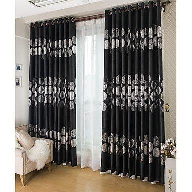 Las 25 mejores ideas sobre cortinas de ventanas dobles en for Cortinas blancas y negras