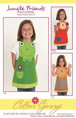 Cantinho craft da Nana: avental divertido para as crianças