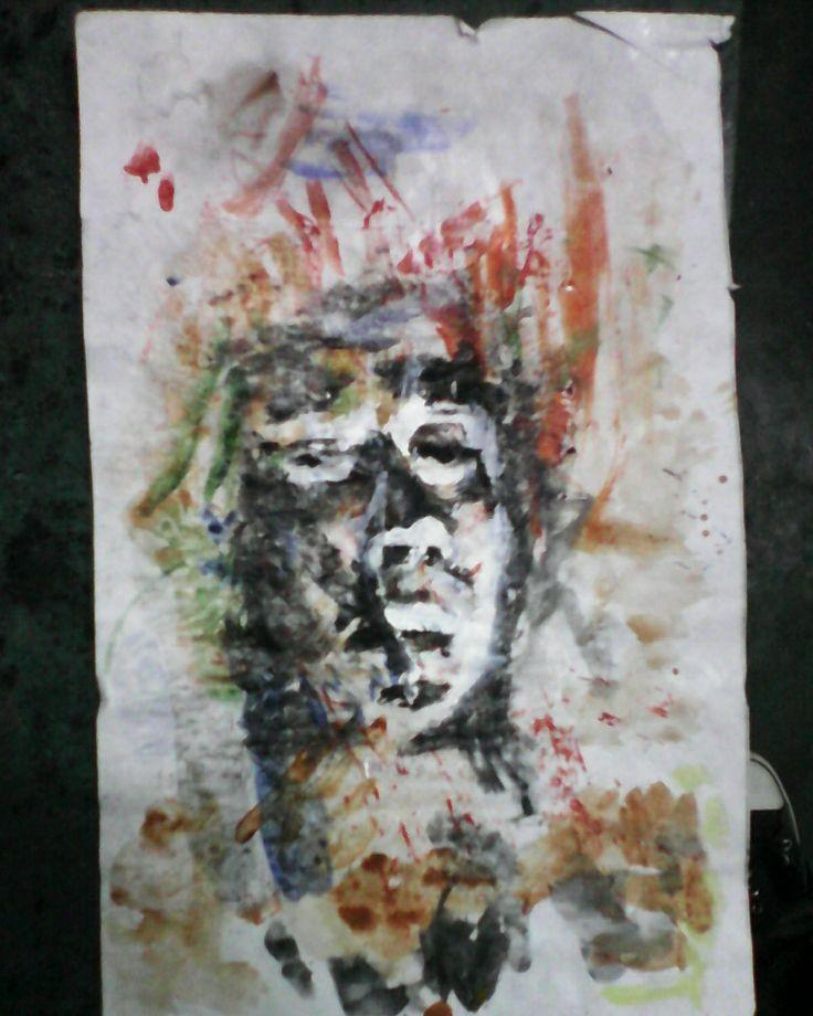 acrylic contemporary art portrait